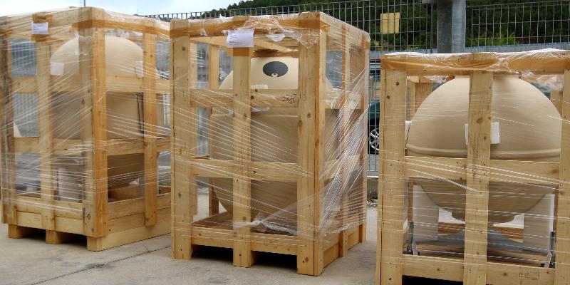 contenitori imballati per la spedizione